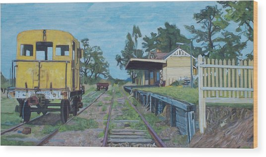 Old Yarra Glen Railway Station Wood Print by Bert Ernie