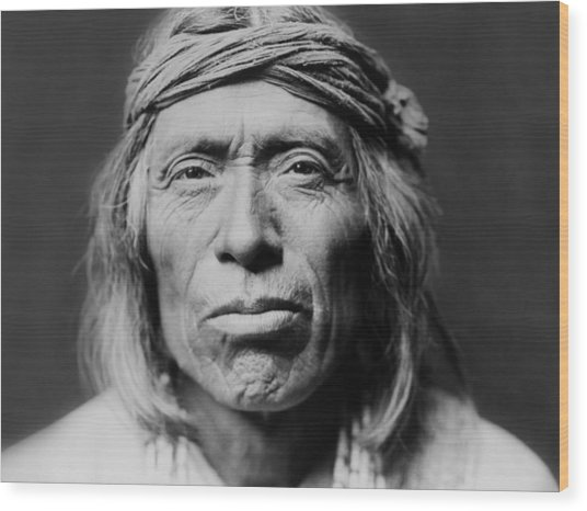 Old Zuni Man Circa 1903 Wood Print