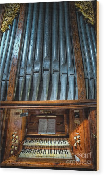 Olde Church Organ Wood Print