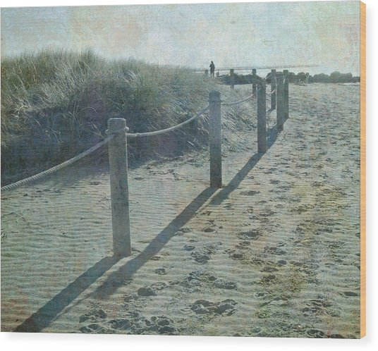 Olde Worlde Beach Wood Print