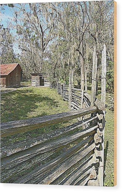 Ole Horse Barn Wood Print