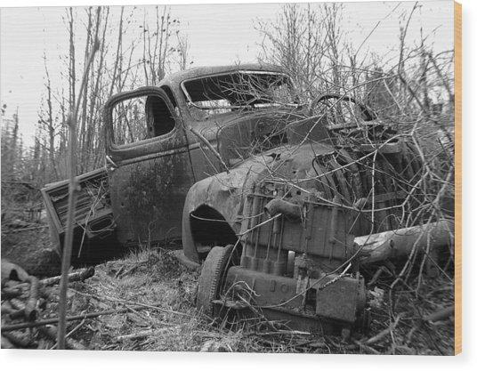 Ole Truck Of Jackfish Wood Print