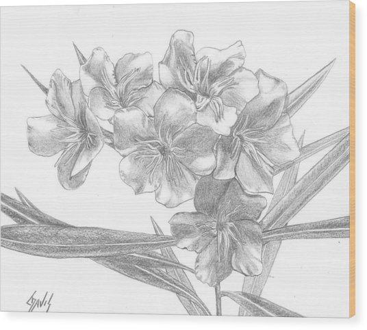 Oleander Wood Print