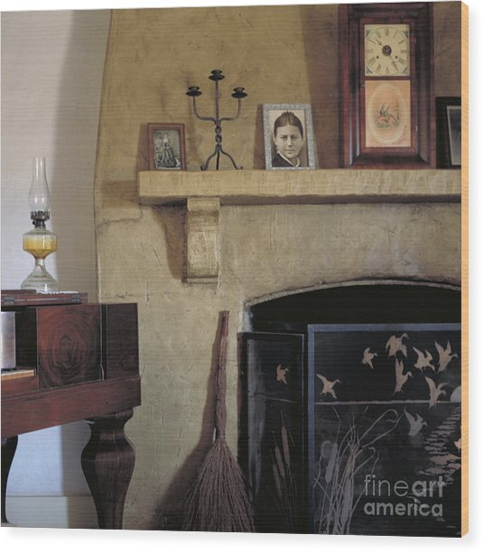 Olivas Adobe Hearth Wood Print