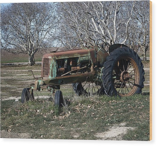 Oliver Farm Tractor Wood Print