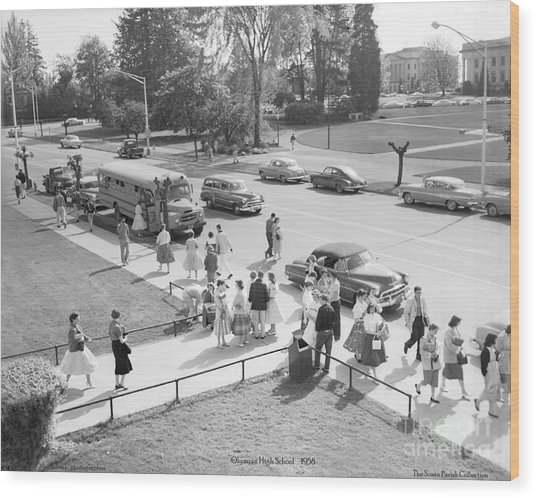 Olympia High School 1958 Wood Print
