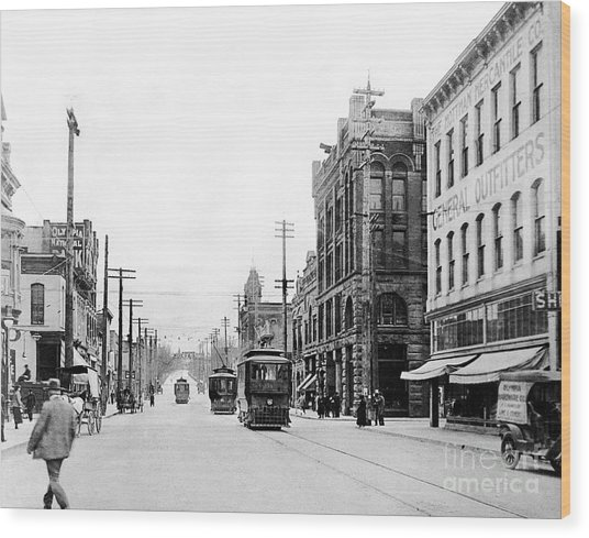 Olympia Main Street 1917 Wood Print