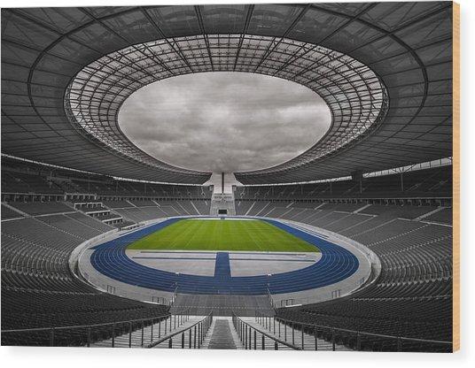 Olympia Stadion Berlin Wood Print
