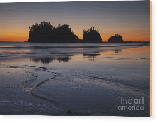 Olympic Peninsula Sunset Wood Print