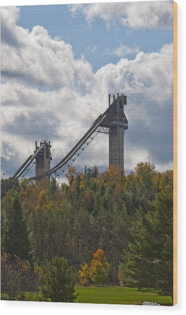 Olympic Ski Jumps Lake Placid Wood Print