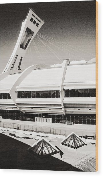 Olympic Stadium Wood Print
