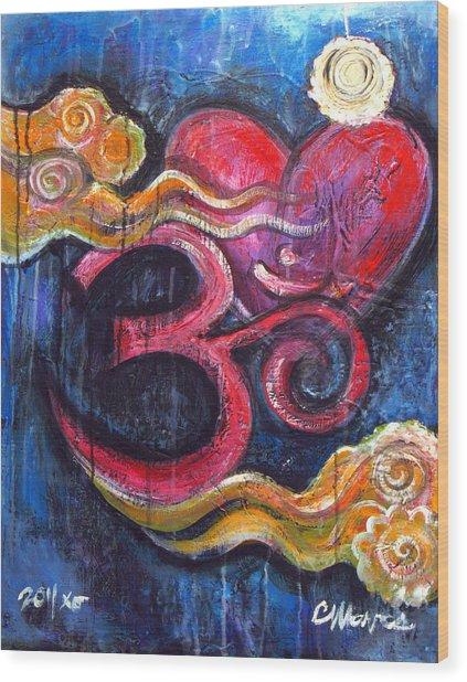 Om Heart Of Kindness Wood Print