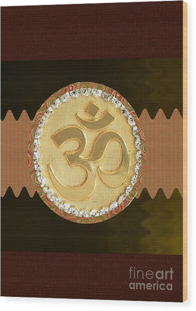 Om Mantra Ommantra Hinduism Symbol Sound Chant Religion Religious Genesis Temple Veda Gita Tantra Ya Wood Print