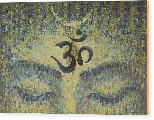 OM Wood Print by Vrindavan Das