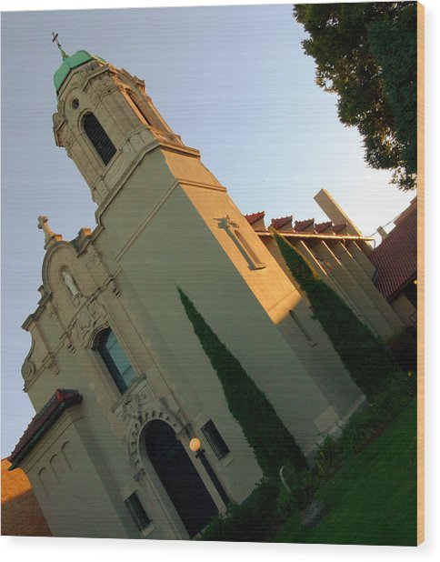 Wood Print featuring the photograph Omaha Church by Jeff Lowe