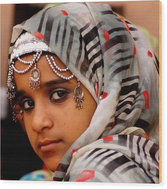 Omani Girl Wood Print
