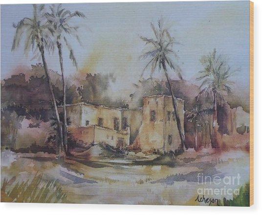 Omani House Wood Print