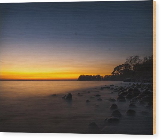 Ometepe Lake Mist Wood Print