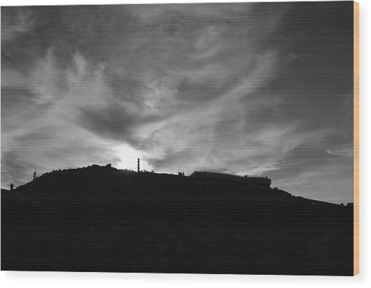Ominous Sky Over Mt. Washington Wood Print