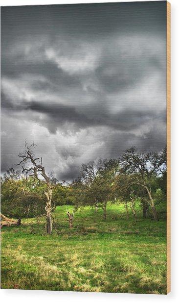 Ominous Storm Brewing Wood Print