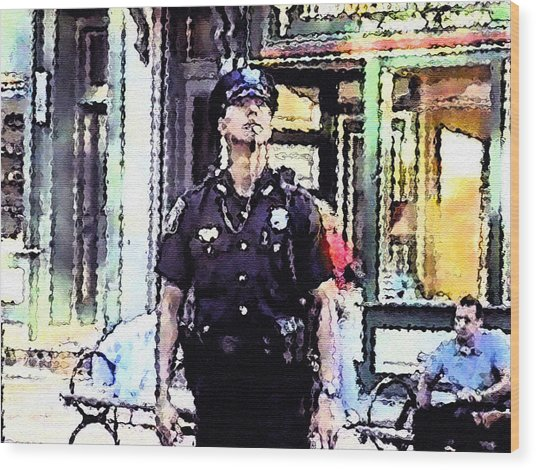 On 9/11 -  Moment Of Pause Wood Print