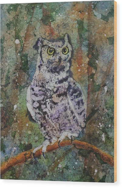 Wood Print featuring the painting On Alert by Ruth Kamenev