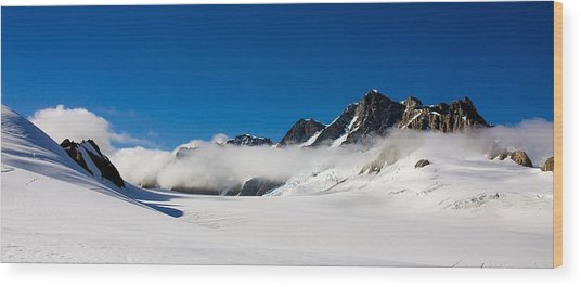 On Fox Glacier Wood Print