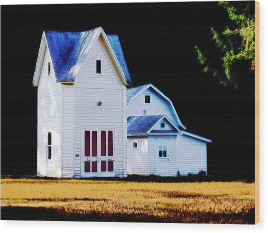 On Hwy B In Ogdensburg Wisconsin Wood Print