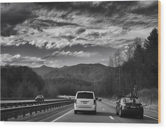 On Interstate 40 West Wood Print
