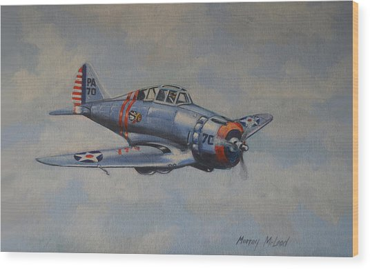 On Silver Wings Wood Print