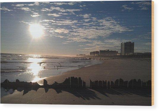 On The Beach Wood Print by Rita Tortorelli