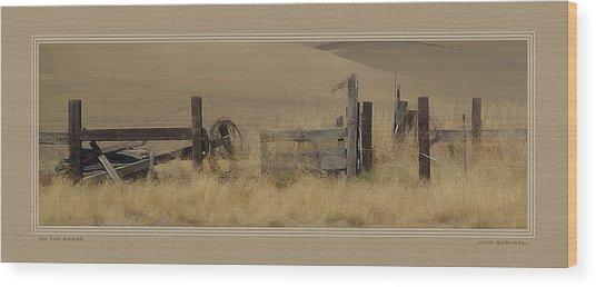 On The Range Wood Print