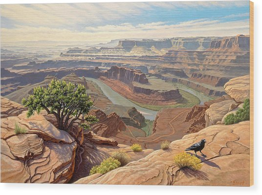 On The Rim-dead Horse Point Wood Print