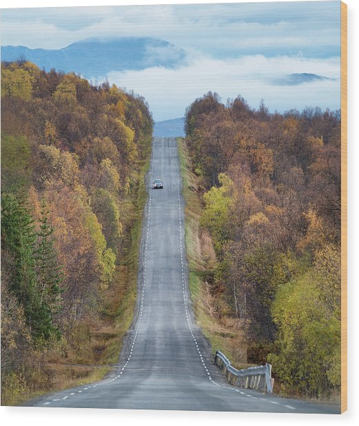 On The Road Again Wood Print by Christian Lindsten