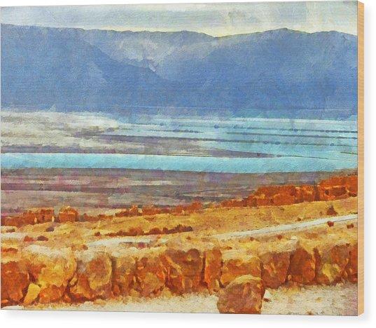 On The Road To Masada Wood Print