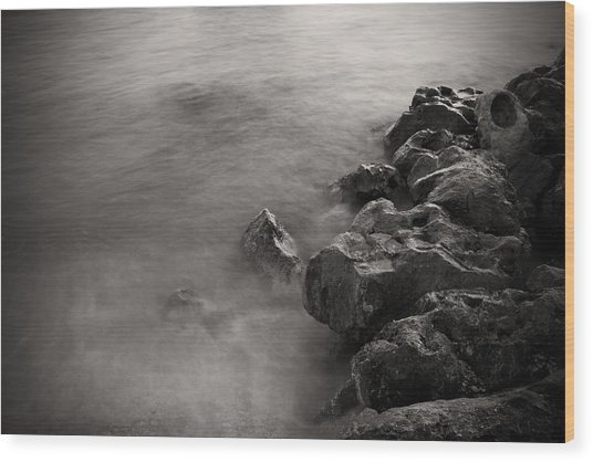On The Rocks Wood Print by Fizzy Image