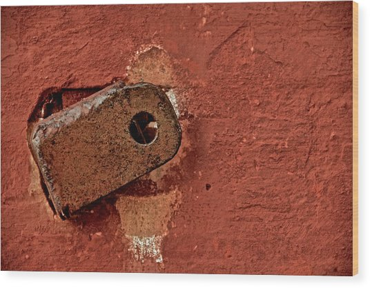 On The Wall Wood Print by Odd Jeppesen