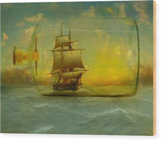 Once In A Bottle Wood Print