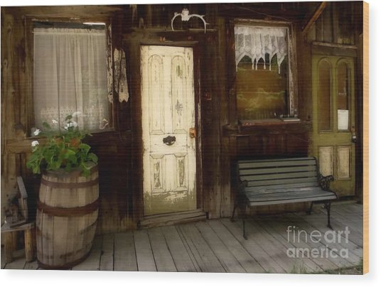 Once Upon A Time Wood Print by Claudette Bujold-Poirier