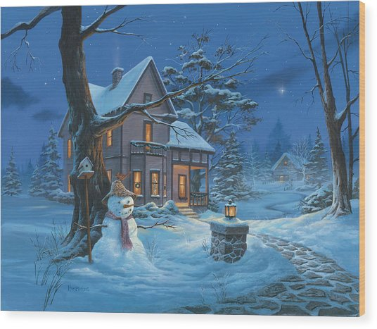 Once Upon A Winter's Night Wood Print