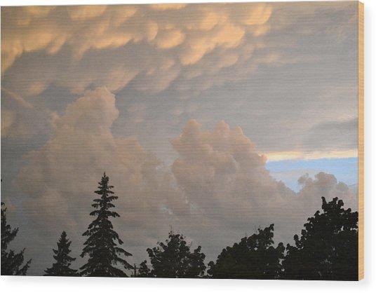 One Friday Sunset  Wood Print