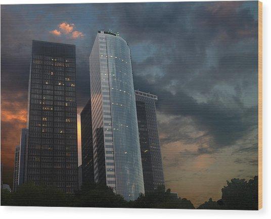 One New York Center Wood Print