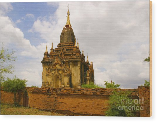 One Of The Countless Buddhist Pagodas In Bagan Burma Wood Print by PIXELS  XPOSED Ralph A Ledergerber Photography
