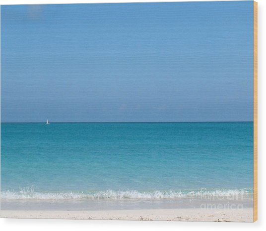 Wood Print featuring the photograph Grace Bay by Patti Whitten