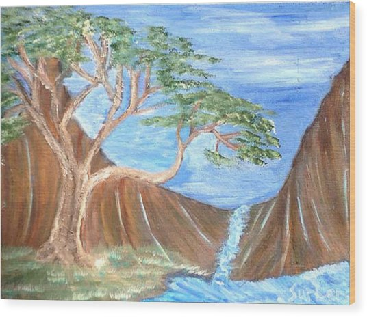 One Tree Wood Print