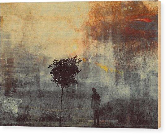One Way (shadows) Wood Print