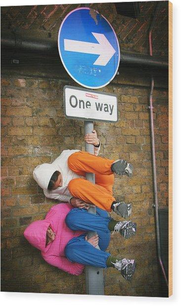 One Way Wood Print by Stephen Norris