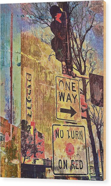 One Way To Uptown Wood Print