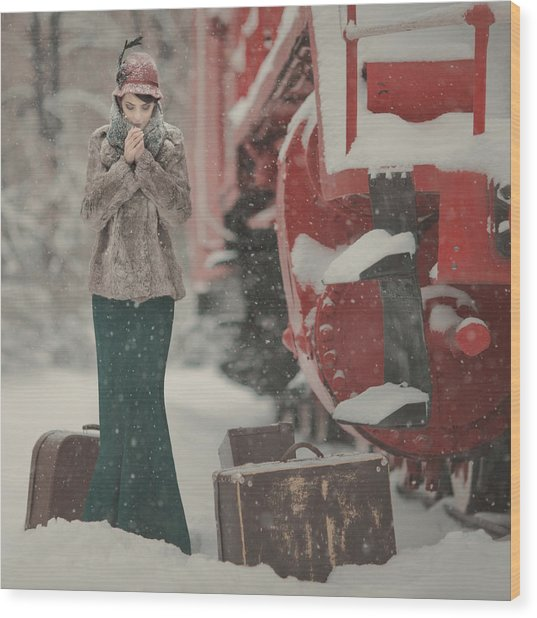 One Winter Story Wood Print