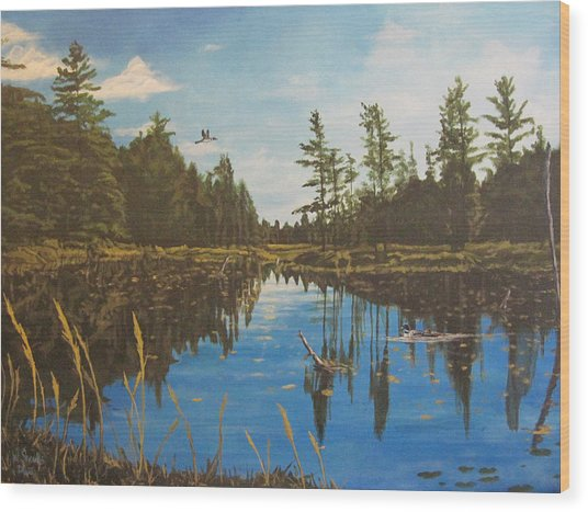 O'neal Lake Wood Print